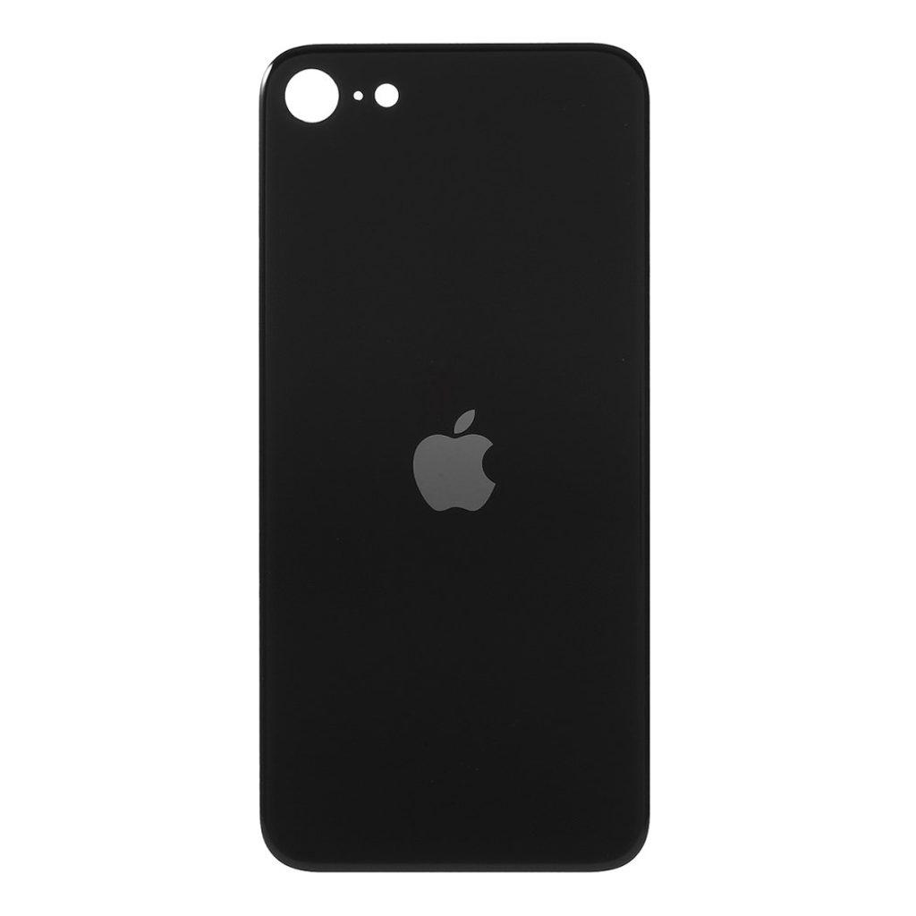Apple iPhone SE 2. generace zadní skleněný kryt baterie černý se zvětšeným otvorem na zadní fotoaparát