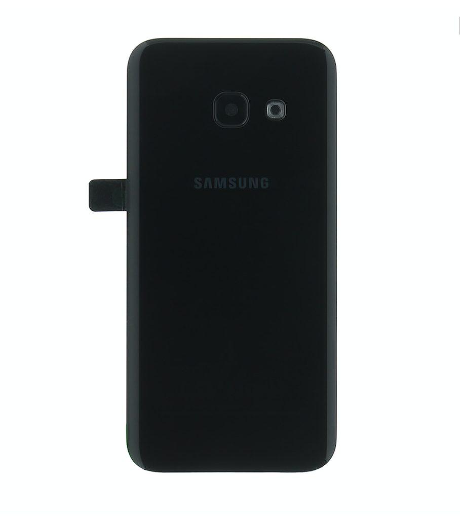 Samsung Galaxy A3 2017 zadní kryt baterie černý A320F (Service Pack)
