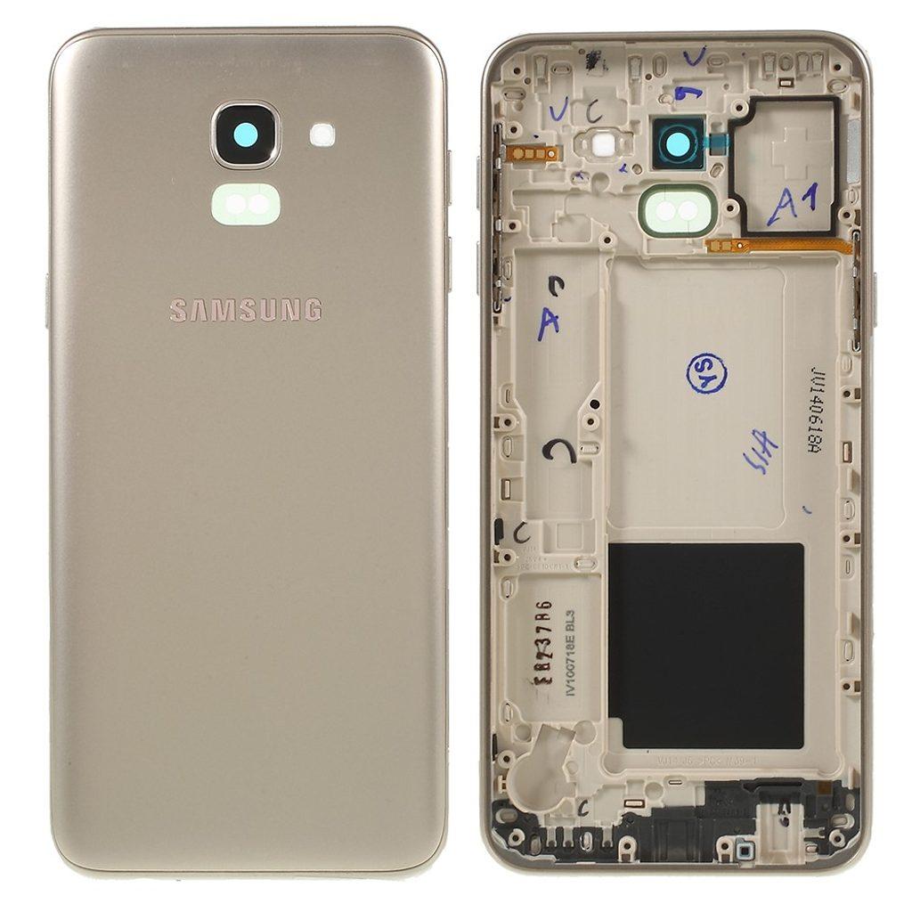 Samsung J6 2018 Zadní kryt baterie včetně krytky fotoaparátu J600 zlatý