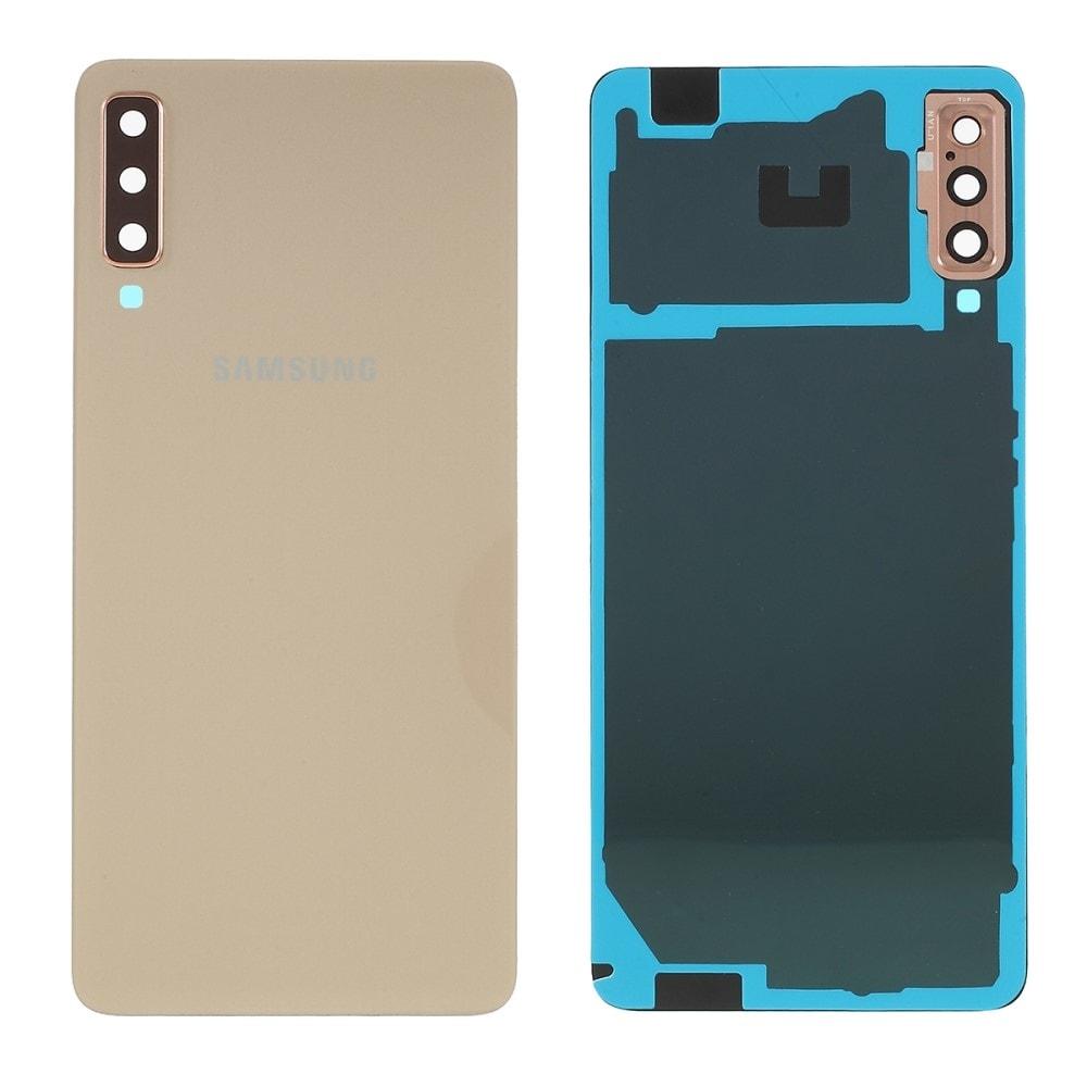 Samsung Galaxy A7 2018 zadní kryt baterie zlatý osázený včetně krytky fotoaparátu A750