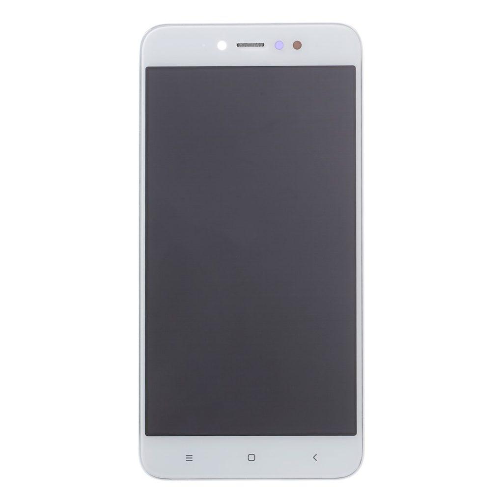 Xiaomi Redmi Note 5A Prime LCD dotykové sklo bílé komplet přední panel včetně rámečku