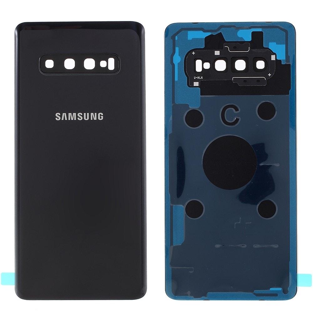 Samsung Galaxy S10 Plus zadní kryt baterie osázený včetně krytky fotoaparátu černý G975