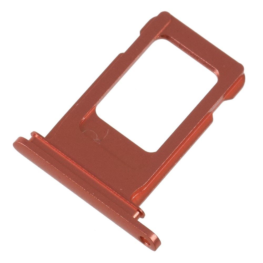 Apple iPhone XR šuplík na SIM kartu oranžový coral