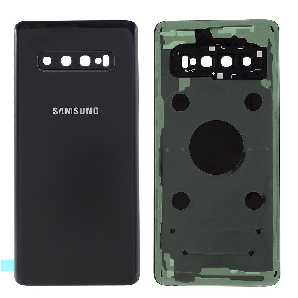 Samsung Galaxy S10 zadní kryt baterie osázený včetně krytky fotoaparátu černý G973