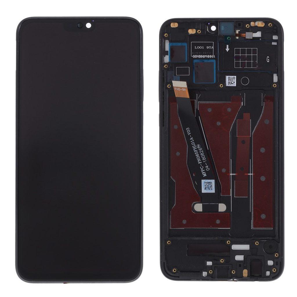 Honor 8X / Honor 9X lite LCD komplet displej přední panel včetně rámečku černý