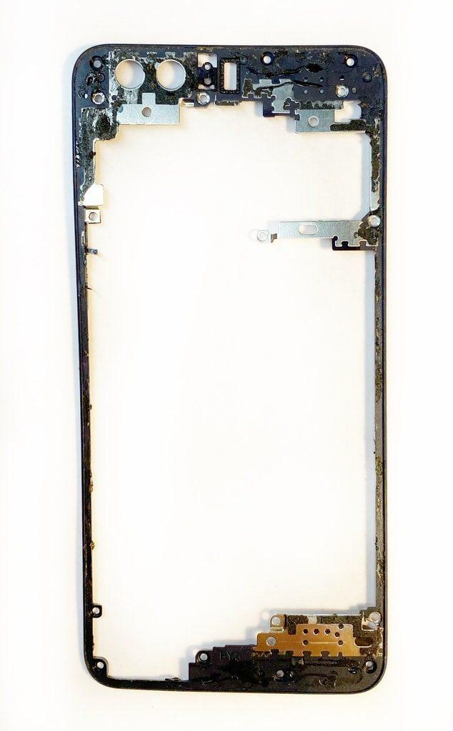 Honor 8 krytka základní desky plastový rámeček použitý pod zadním krytem černý