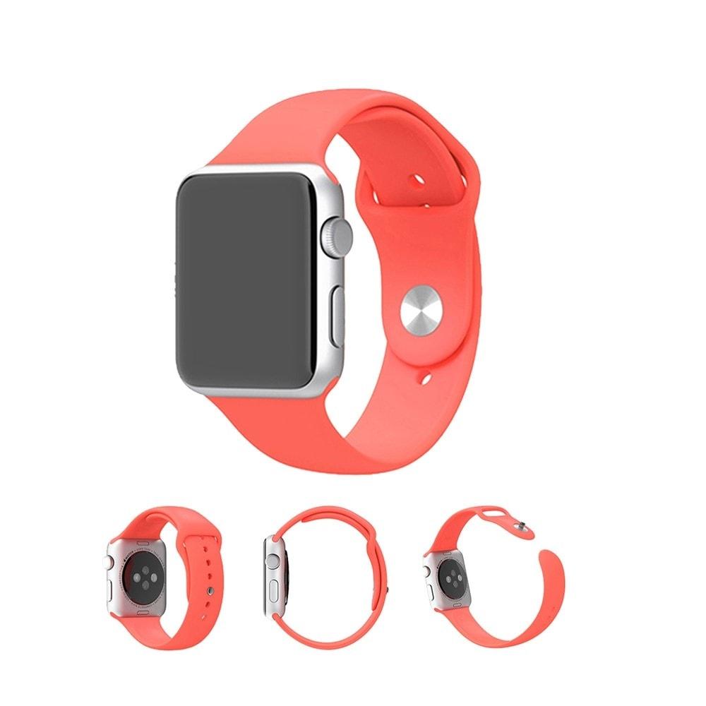 Apple Watch 42mm 44MM silikonový řemínek pásek melounově červený