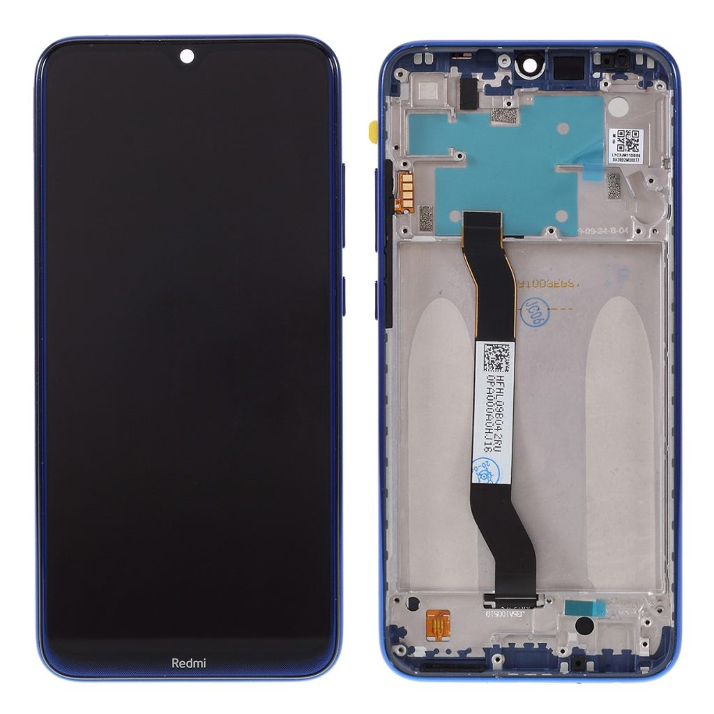 Xiaomi Redmi Note 8 LCD displej dotykové sklo včetně rámečku komplet přední panel modrý