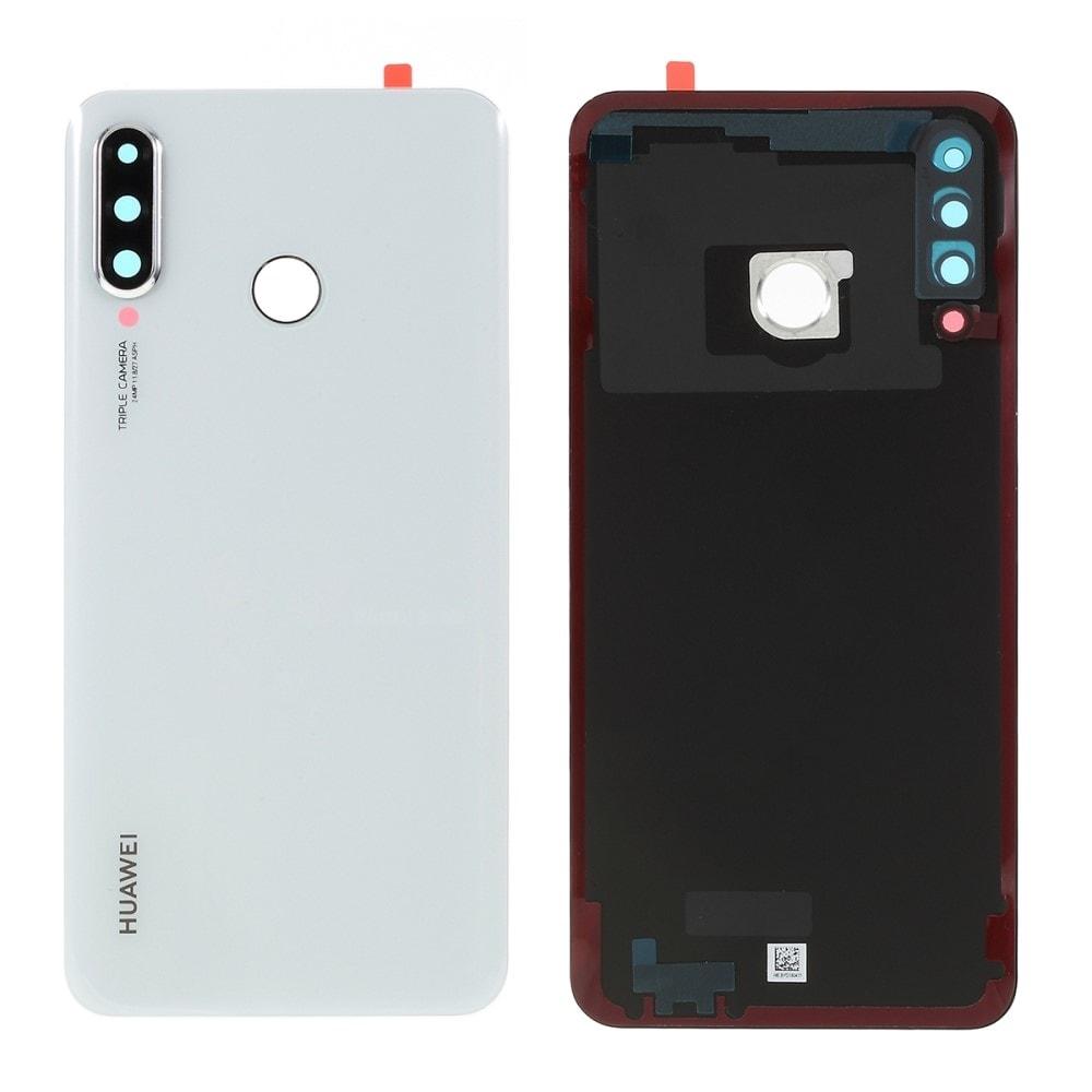 Huawei P30 Lite zadní kryt baterie bílý včetně krytky čočky fotoaparátu (MAR-L01A, MAR-L21A, MAR-LX1A)