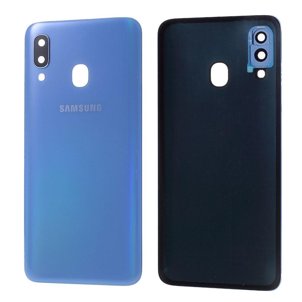 Samsung Galaxy A40 zadní kryt baterie včetně krytky čočky fotoaparátu modrý A405