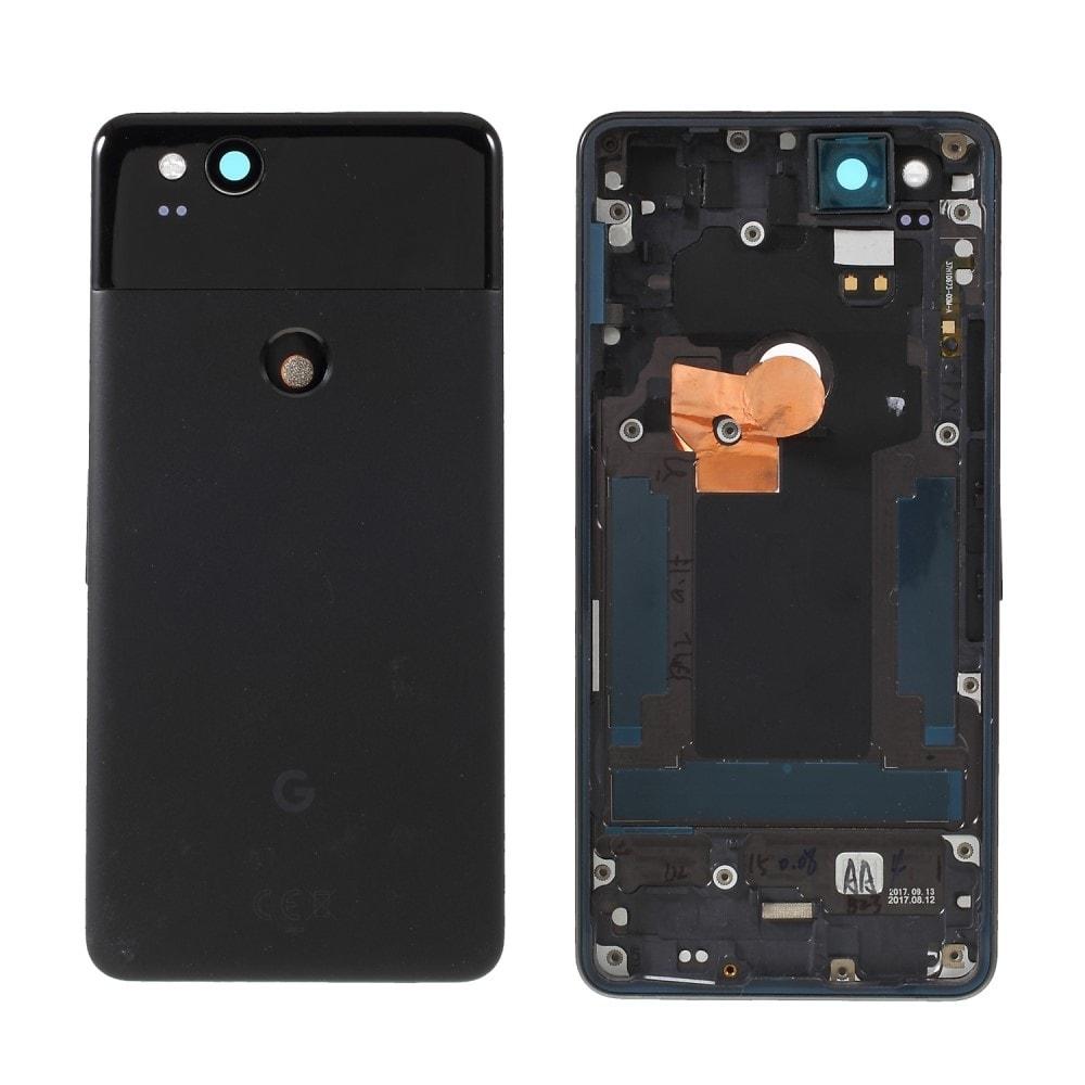 Google Pixel 2 zadní kryt baterie černý včetně krytky fotoaparátu zadního sklíčka
