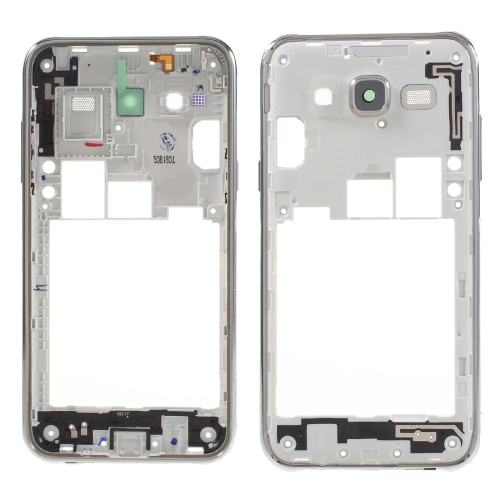 Samsung Galaxy J5 2015 středový rámeček telefonu střední kryt stříbrný J500F