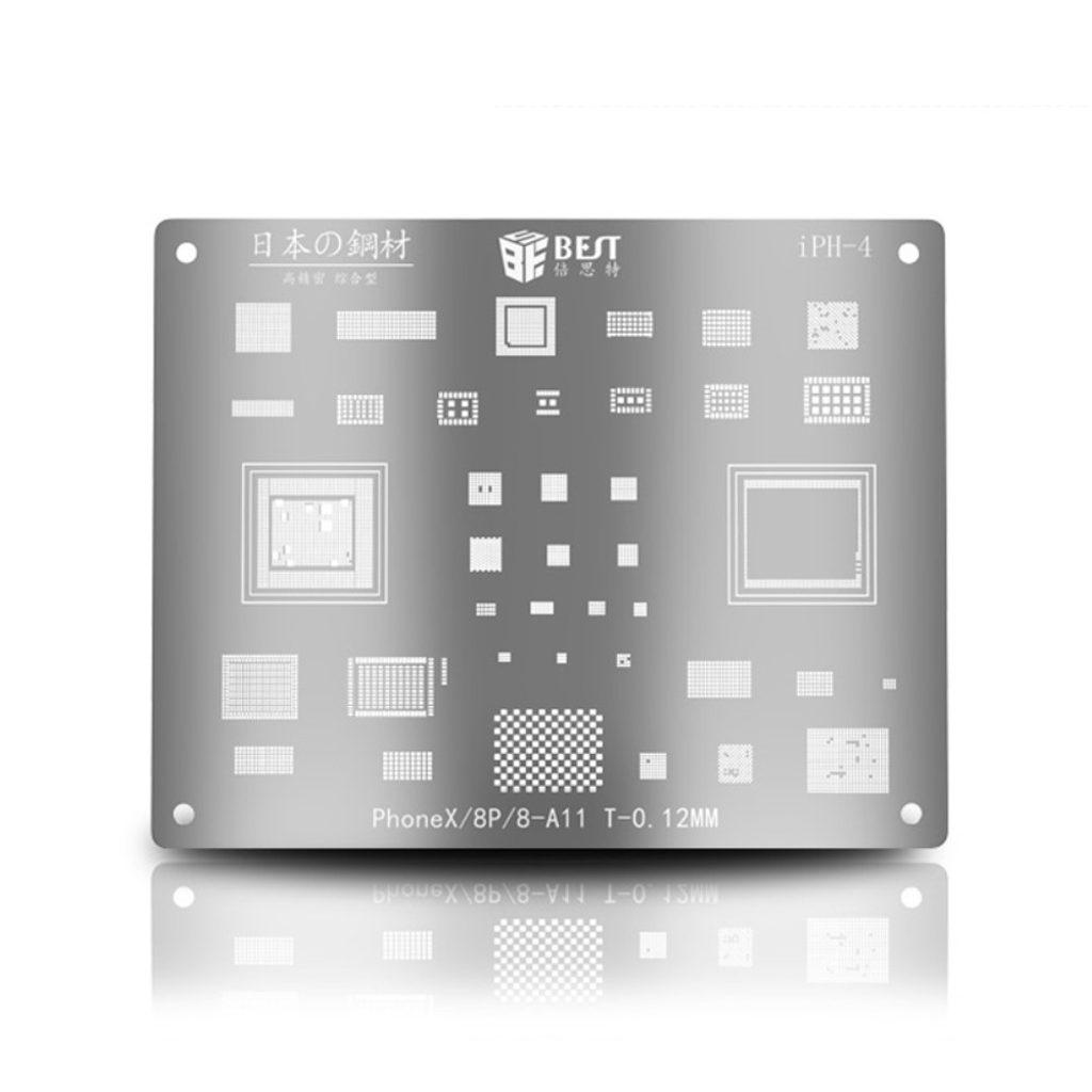 Set na reballing šablona BGA pro Apple iPhone X / 8 / 8 Plus - A11