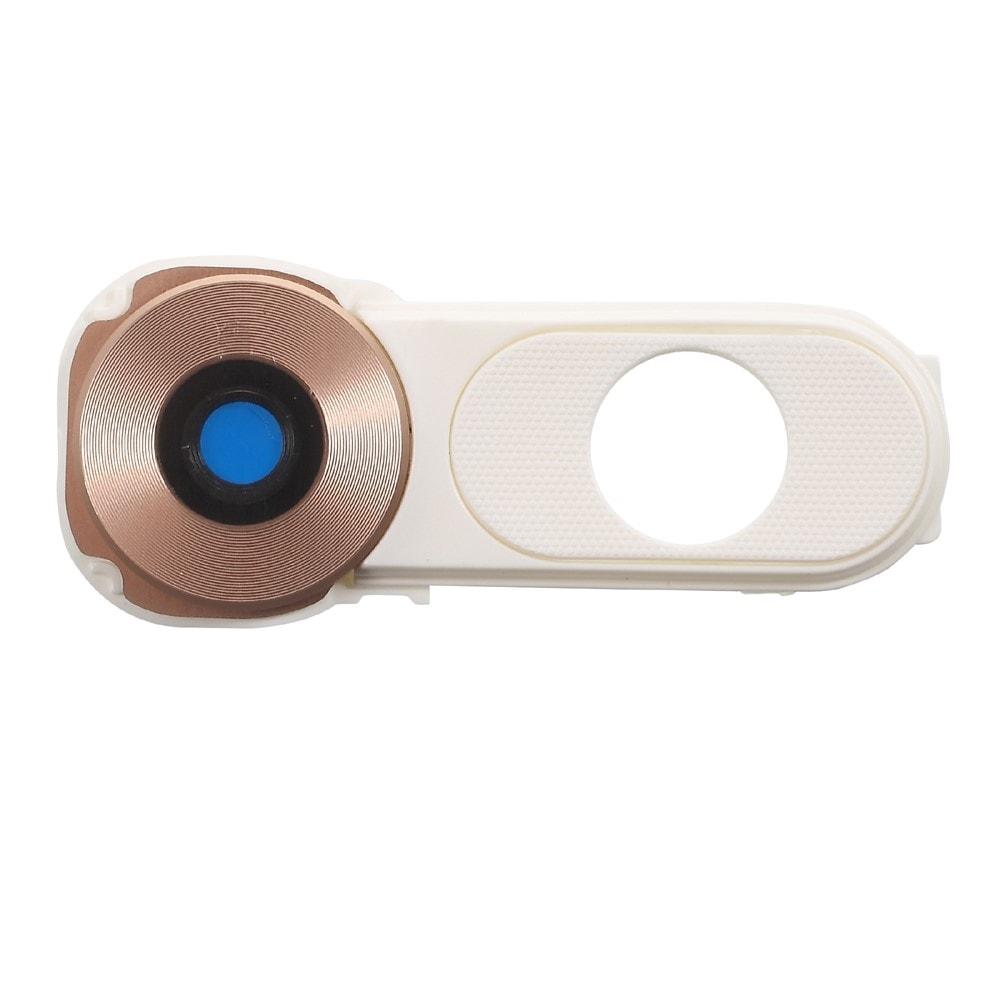 LG V10 krytka čočky fotoaprátu bílo zlatá