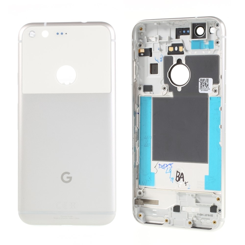 Google Pixel zadní kryt baterie bílý stříbrný včetně krytky fotoaparátu zadního skla