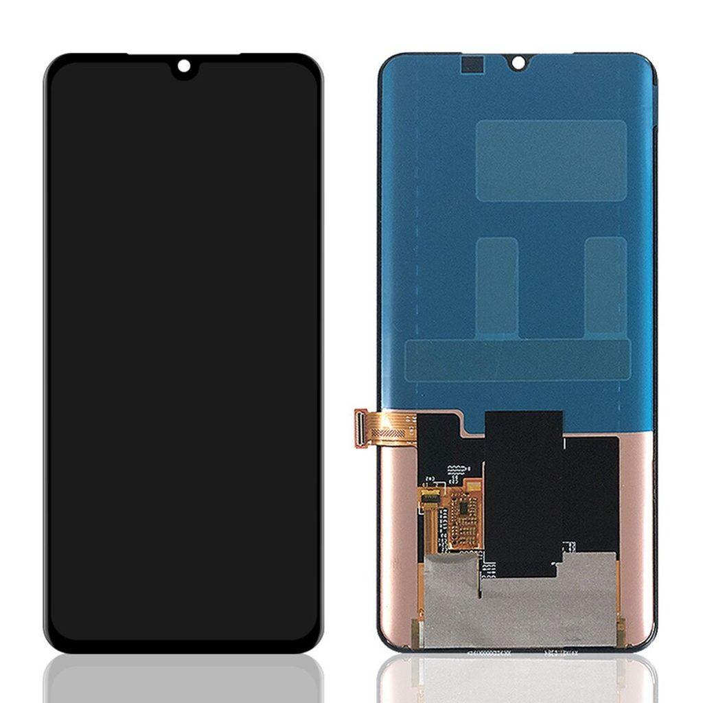 Xiaomi Mi Note 10 / Mi Note 10 lite / Mi Note 10 PRO LCD displej dotykové sklo komplet přední panel černý