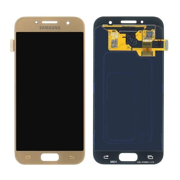 Samsung Galaxy A3 2017 LCD displej dotykové sklo zlaté A320F