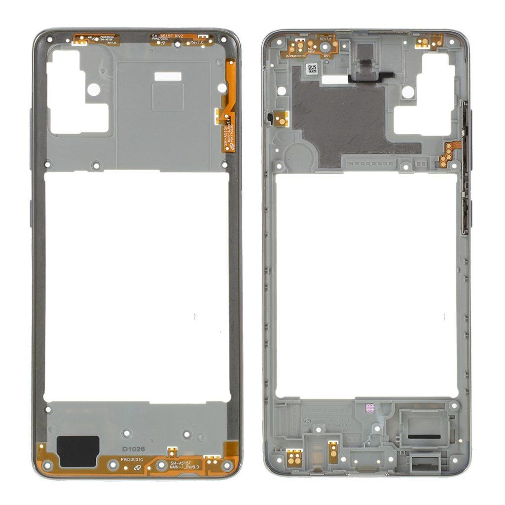 Samsung Galaxy A51 střední rámeček středový kryt šedý A515