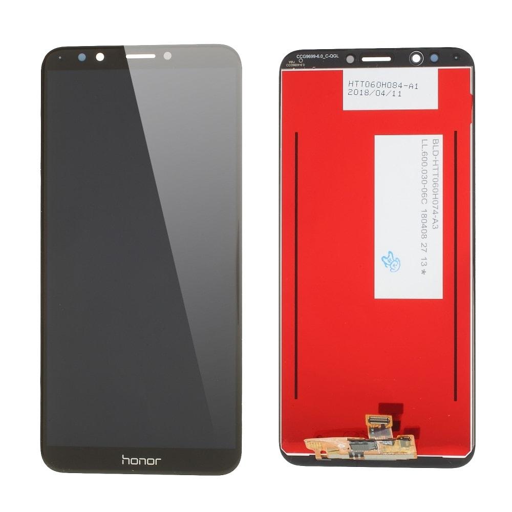 Honor 7C LCD displej dotykové sklo komplet přední panel černý