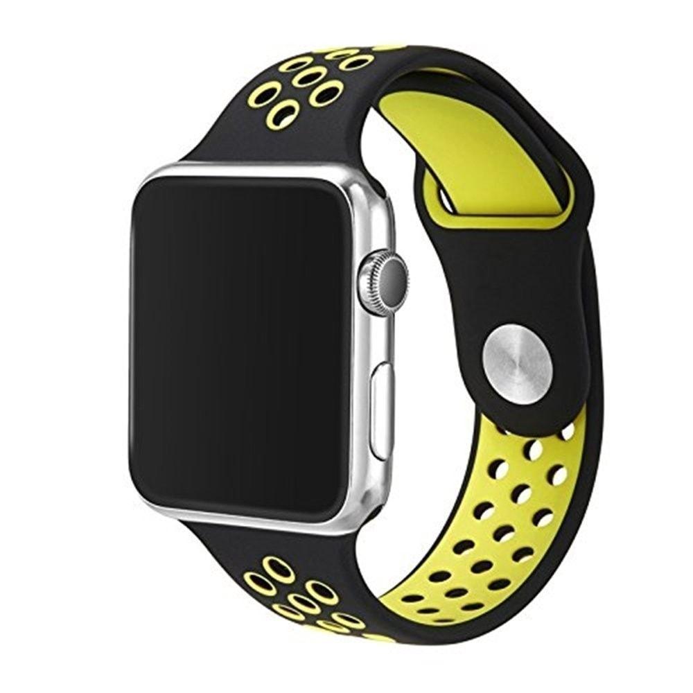 Apple Watch 42mm 44MM silikonový řemínek sportovní Nike Sport žlutý