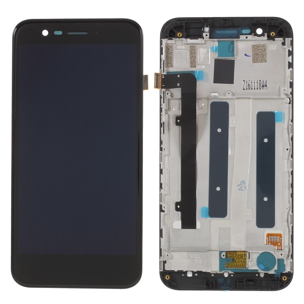 Vodafone Smart prime 7 LCD displej dotykové sklo komplet přední panel černý včetně rámečku VFD600