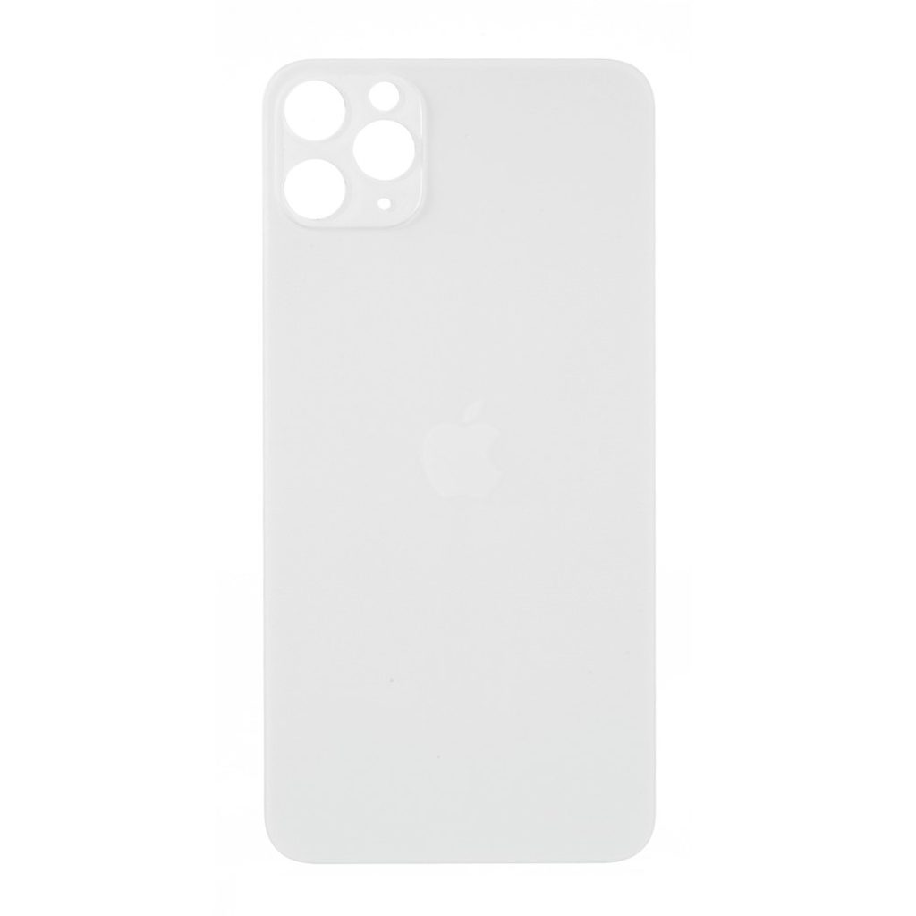 Apple iPhone 11 Pro Max zadní skleněný kryt baterie bílý s větším otvorem pro kamery