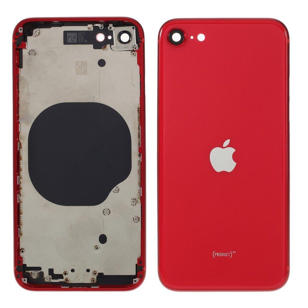 Apple iPhone SE 2020 zadní kryt baterie včetně středového rámečku červený