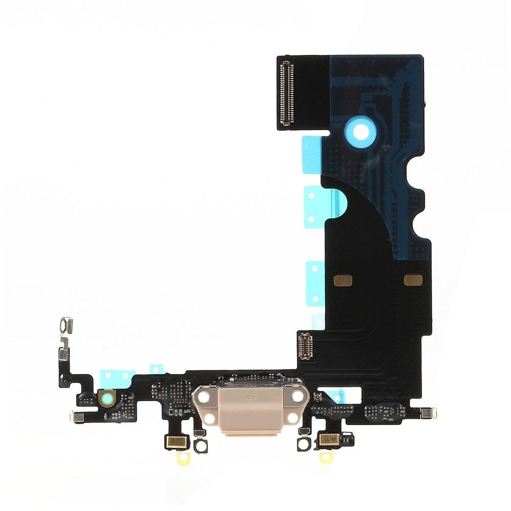 Apple iPhone 8 dock konektor nabíjení napájecí flex lightning port sluchátka zlatý