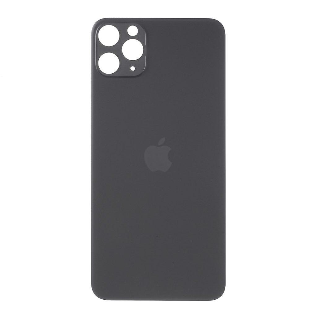 Apple iPhone 11 Pro Max zadní skleněný kryt baterie černý s větším otvorem pro kamery
