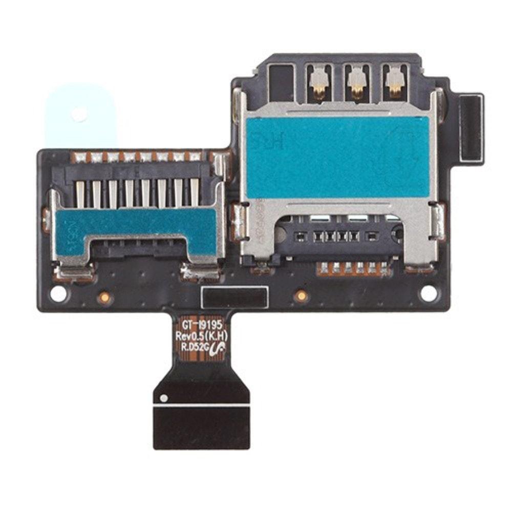 Samsung Galaxy S4 mini LTE čtečka SIM SD karty flex reader i9195