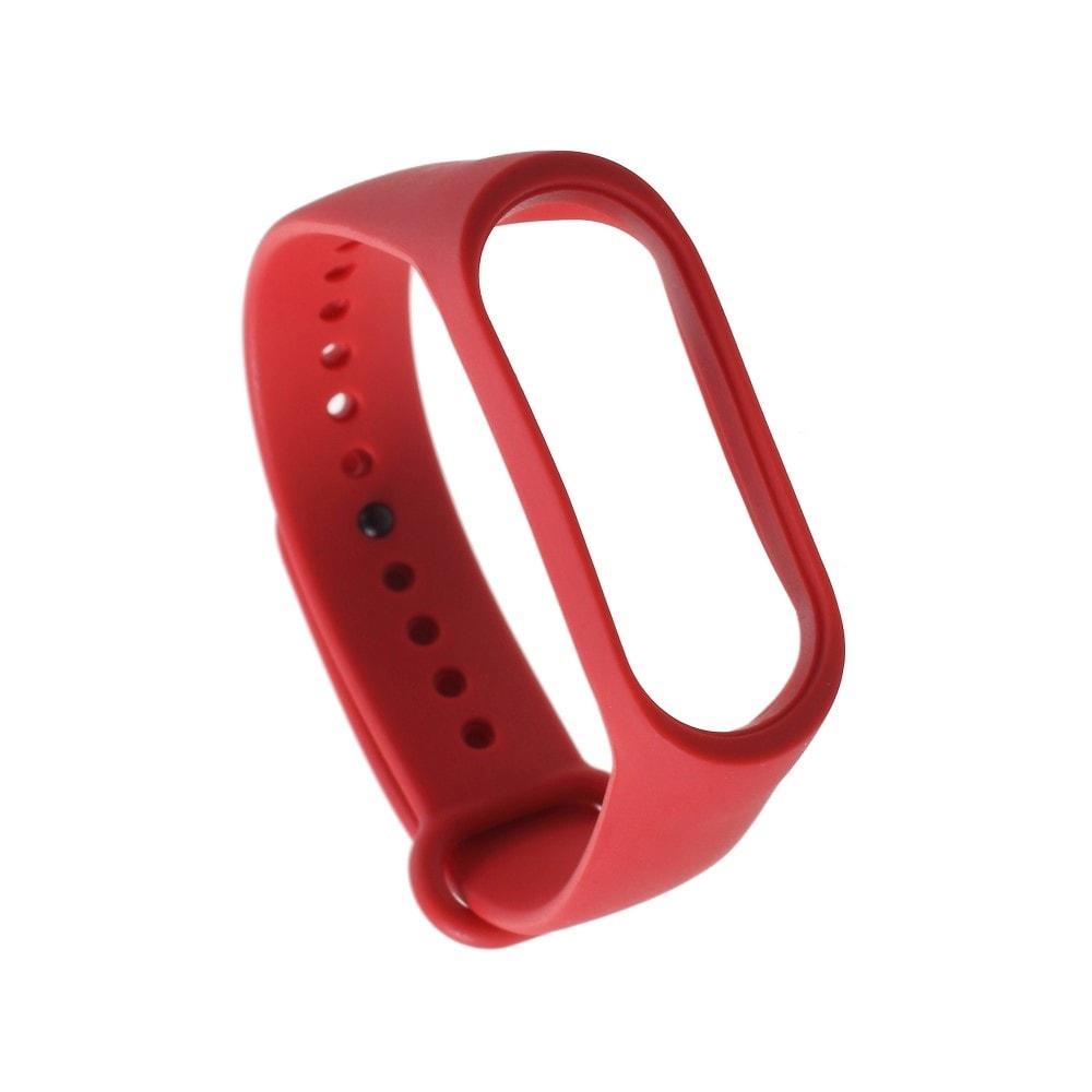 Xiaomi Mi Band 3 / 4 pásek na ruku řemínek silikon červený