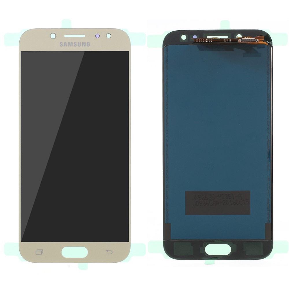 Samsung Galaxy J5 2017 LCD displej dotykové sklo komplet přední panel zlatý TFT J530F