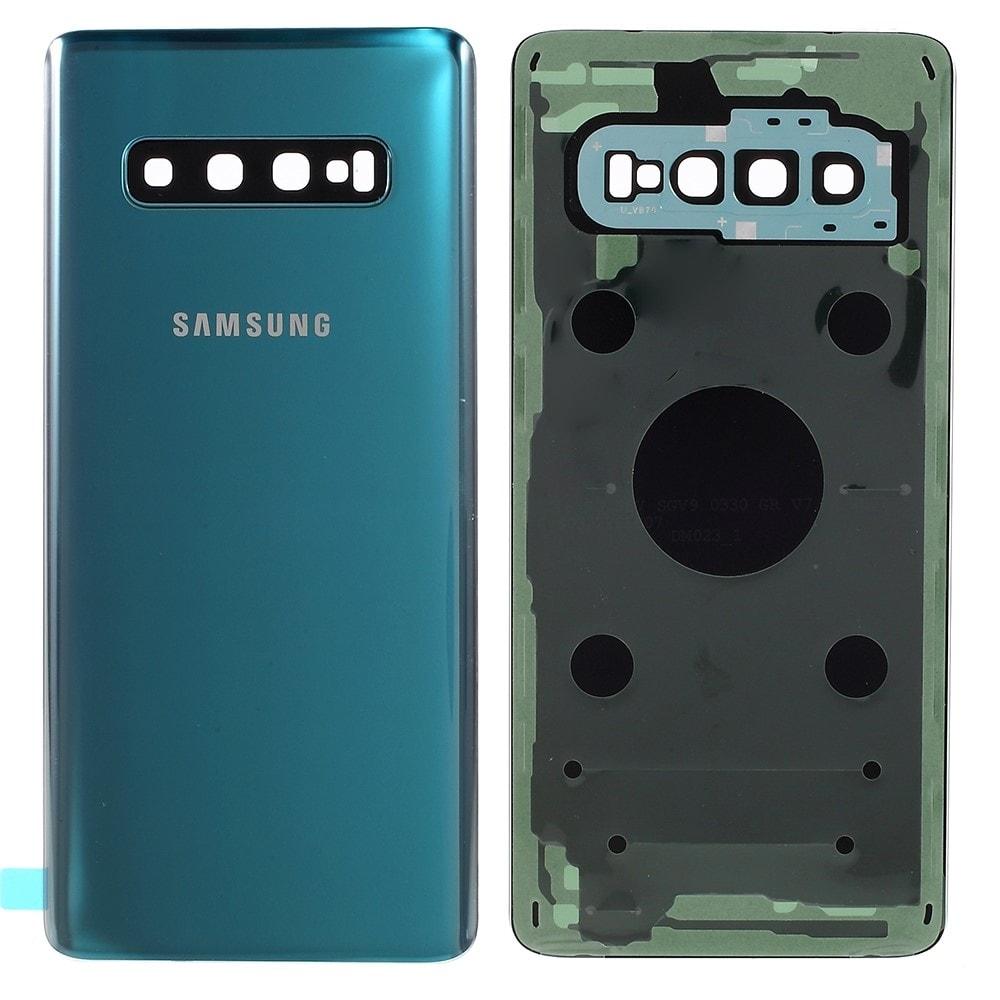 Samsung Galaxy S10 zadní kryt baterie osázený včetně krytky fotoaparátu zelený G973