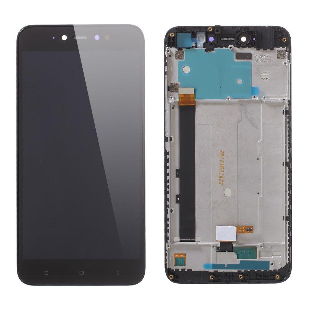 Xiaomi Redmi Note 5A Prime LCD dotykové sklo černé komplet přední panel včetně rámečku