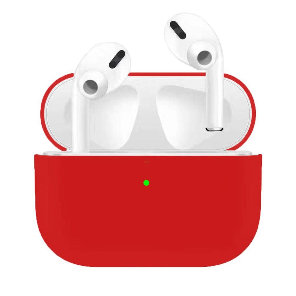 Apple Airpods Pro ochranný kryt silikonový obal na bezdrátová sluchátka červený