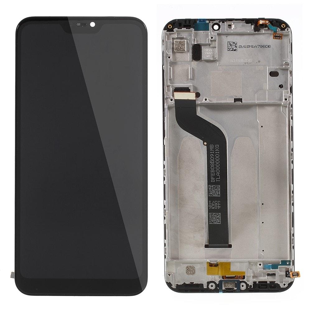 Xiaomi Mi A2 Lite LCD displej dotykové sklo komplet přední panel černý včetně rámečku
