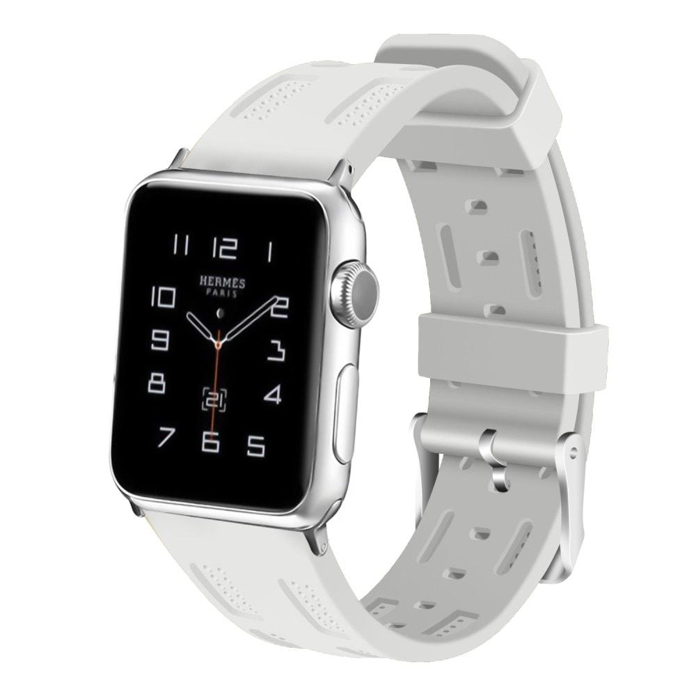 Apple Watch 42mm 44MM silikonový řemínek bílý