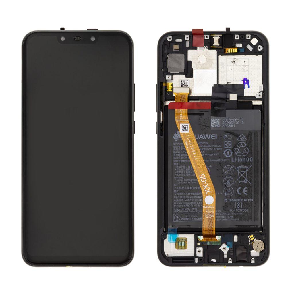 Huawei Nova 3i LCD displej dotykové sklo komplet přední panel černý (Service Pack)