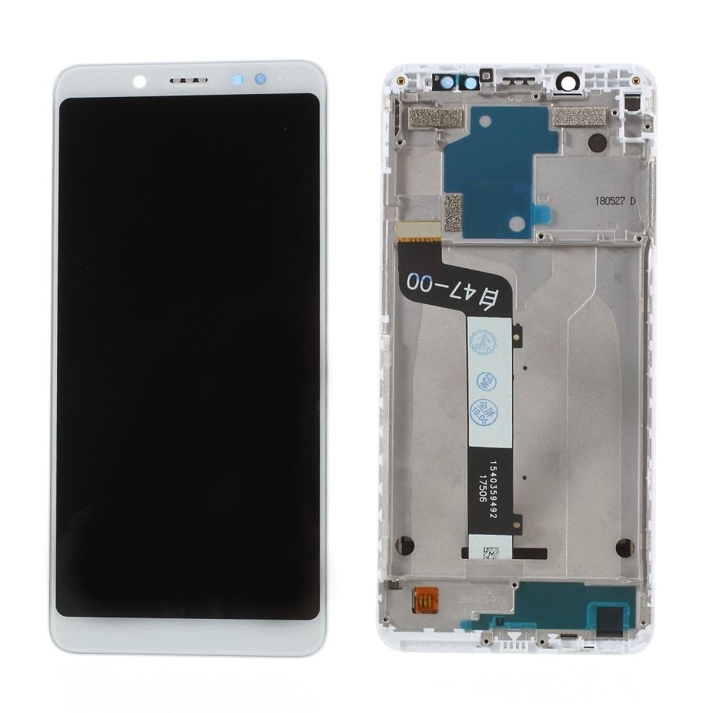 Xiaomi Redmi Note 5 LCD displej dotykové sklo bílý komplet přední panel včetně rámečku