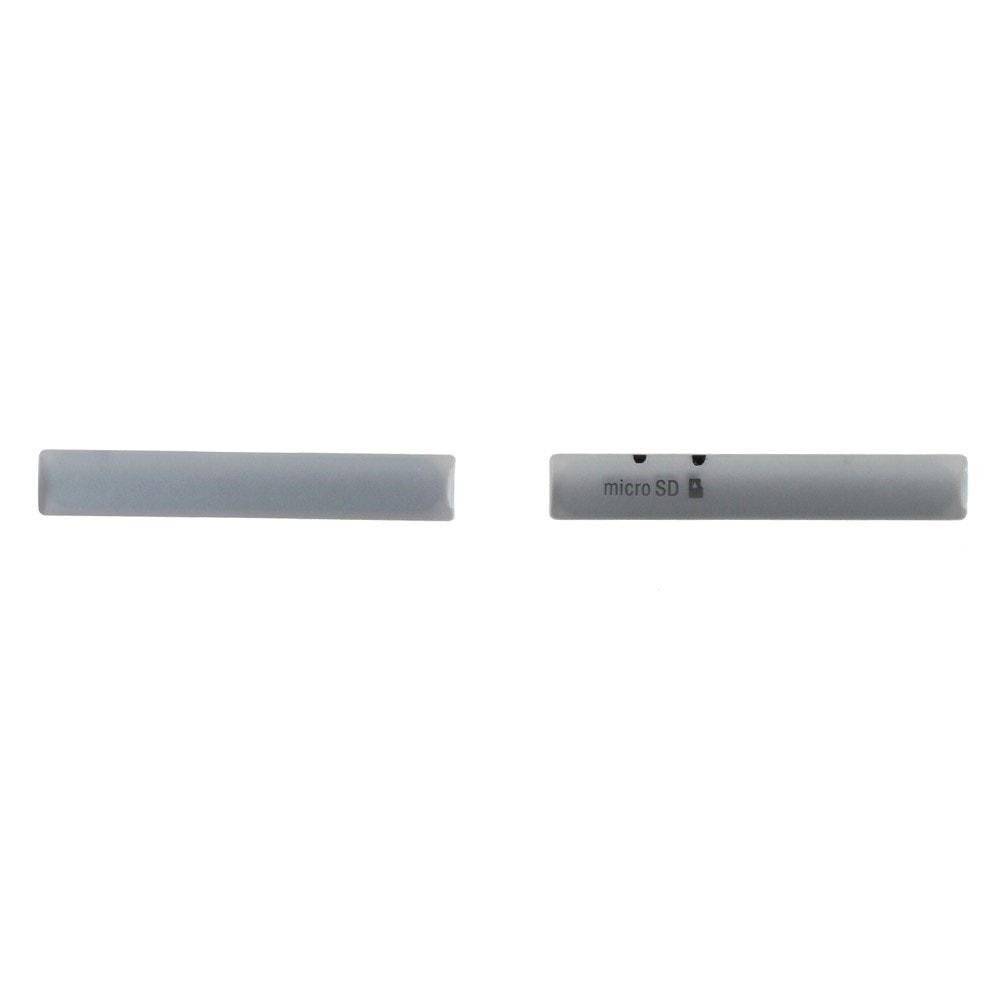Sony Xperia Z3 compact sada krytky micro USB a SIM D5803 bílé
