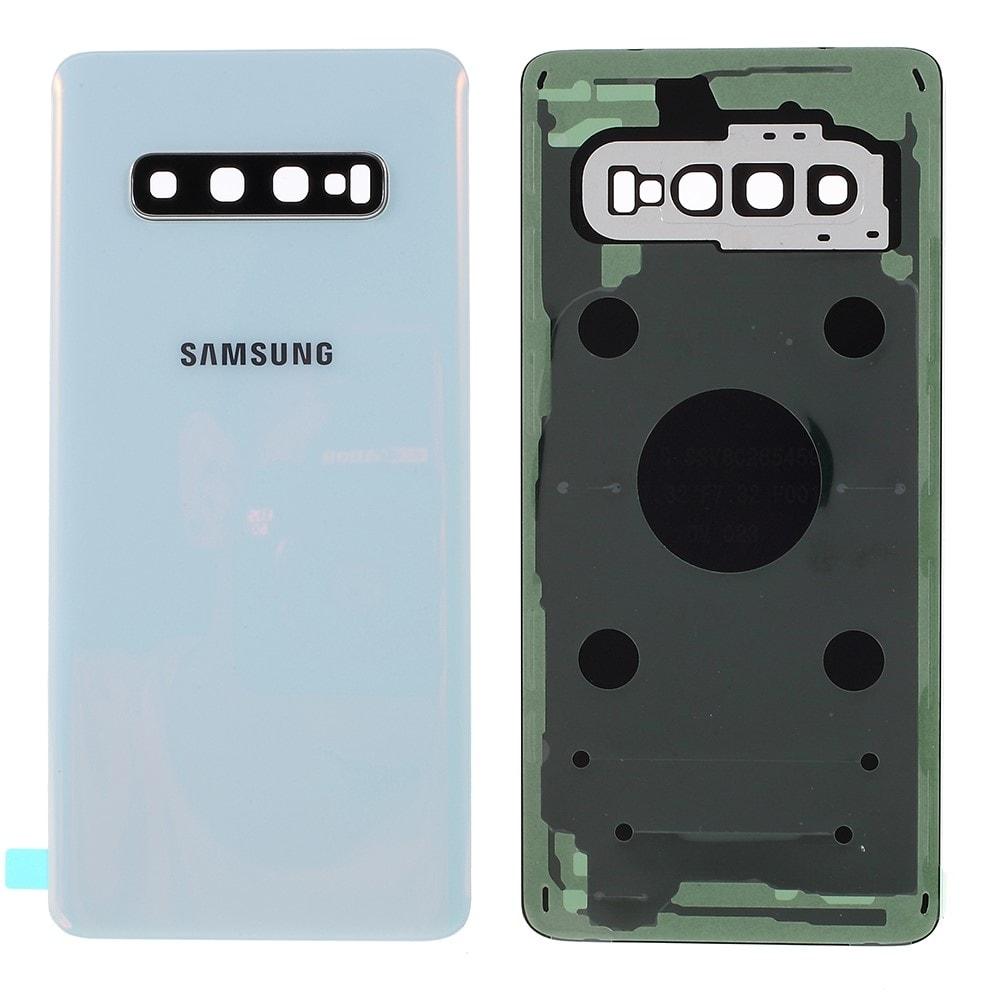 Samsung Galaxy S10 zadní kryt baterie osázený včetně krytky fotoaparátu bílý G973