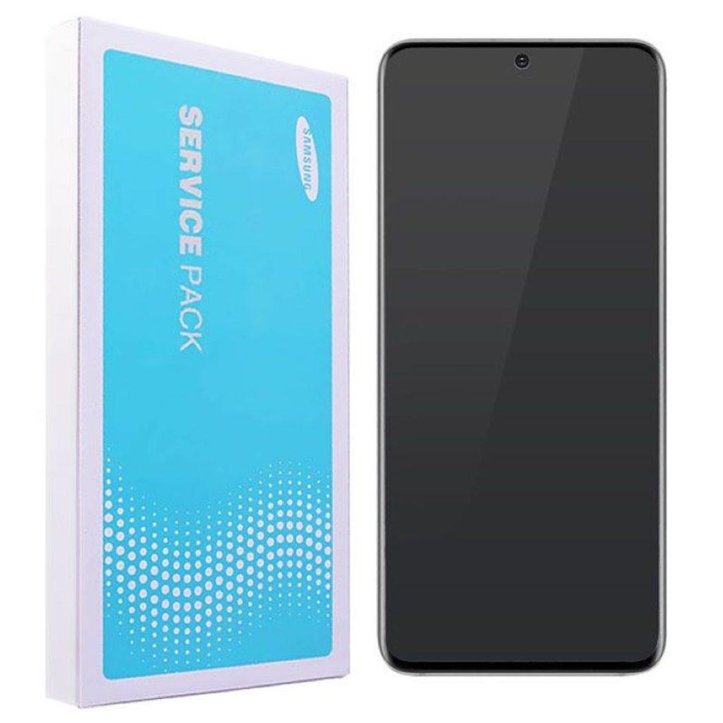 Samsung Galaxy S20 Ultra LCD G988 Amoled displej komplet přední panel Cosmic Black včetně rámečku (Service Pack)