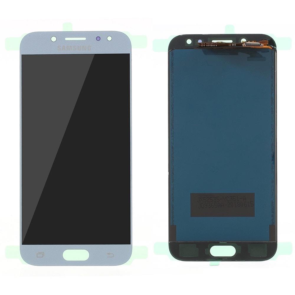 Samsung Galaxy J5 2017 LCD displej dotykové sklo komplet přední panel modrý TFT J530F