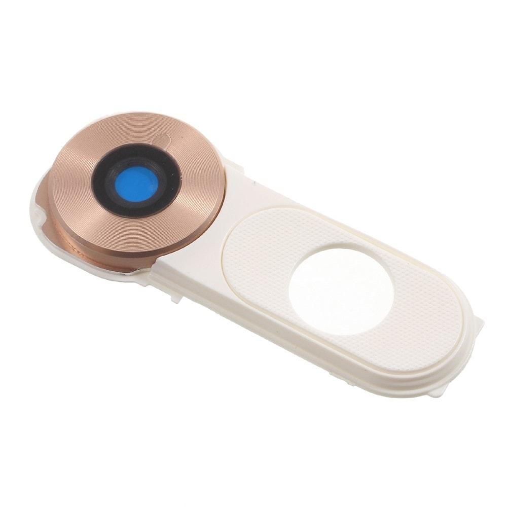 LG V10 krytka čočky fotoaparátu bílo zlatá