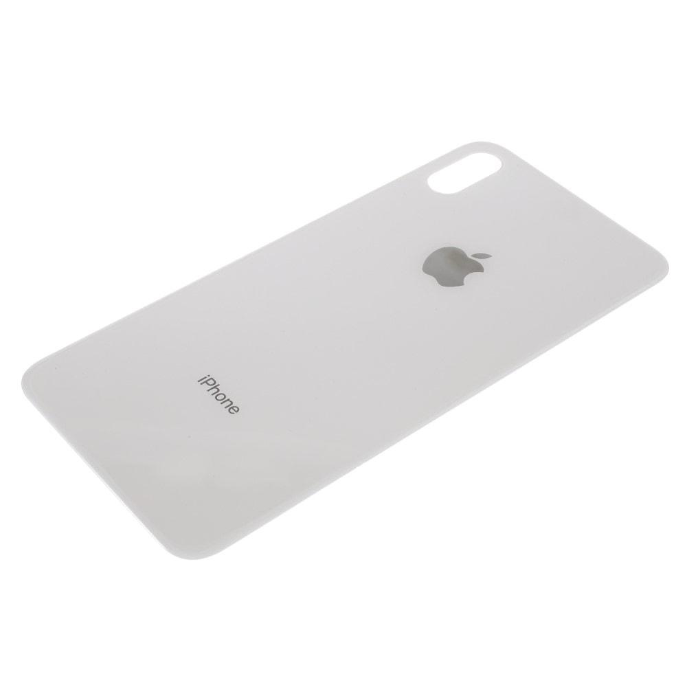 iPhone XS MAX zadní kryt baterie bílý s velkým otvorem na fotoaparát
