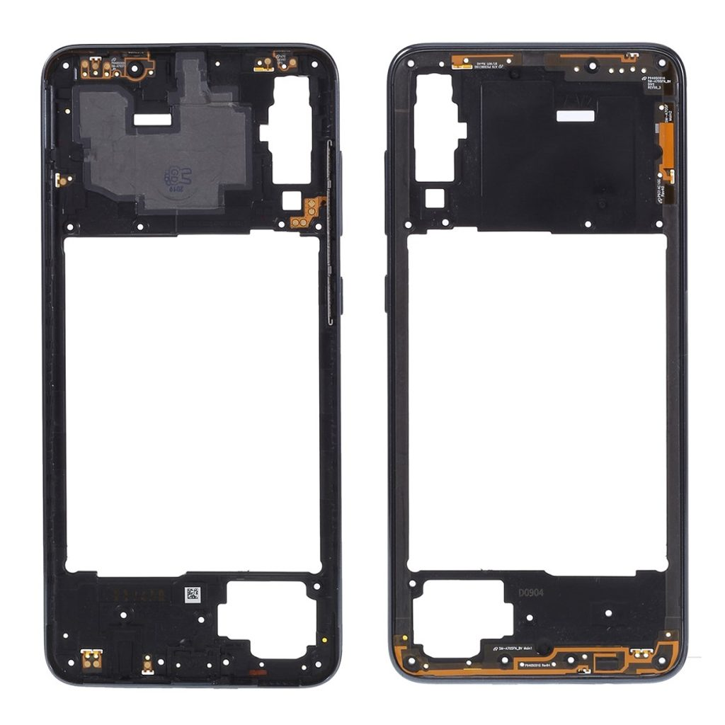 Samsung Galaxy A70 středový rámeček střední kryt černý A705