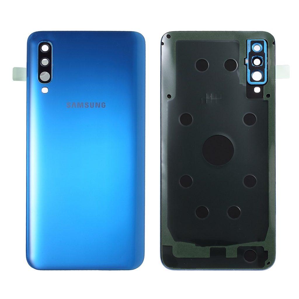 Samsung Galaxy A50 zadní kryt baterie včetně krytky fotoaparátu osázený modrý A505