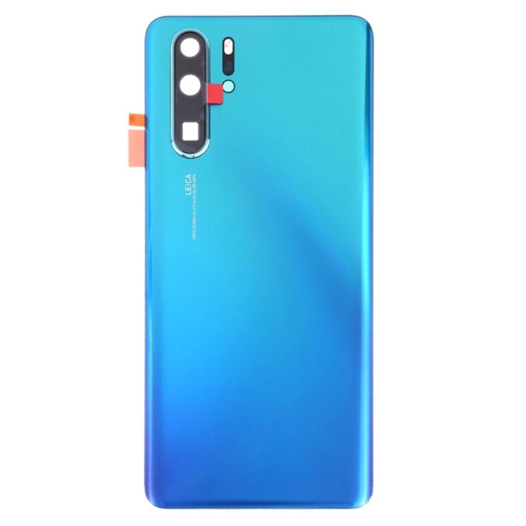 Huawei P30 Pro zadní skleněný kryt baterie včetně krytky čočky fotoaparátu tmavě modrý