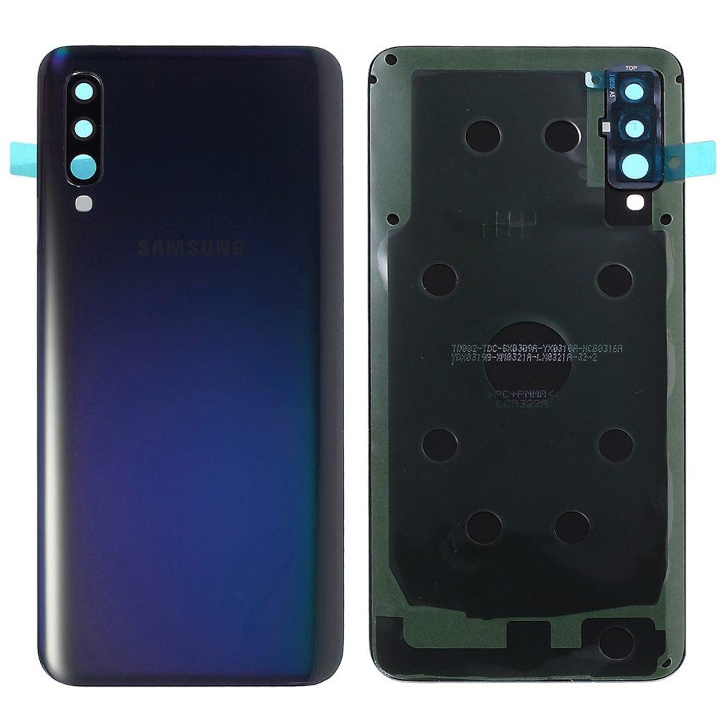 Samsung Galaxy A50 zadní kryt baterie včetně krytky fotoaparátu osázený černý A505