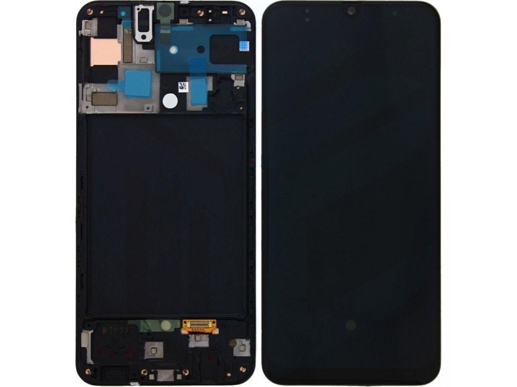 Samsung Galaxy A50 LCD displej dotykové sklo A505 včetně rámečku